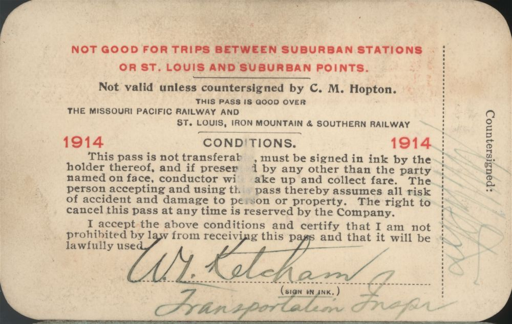 Railroad passes to various stations - 2