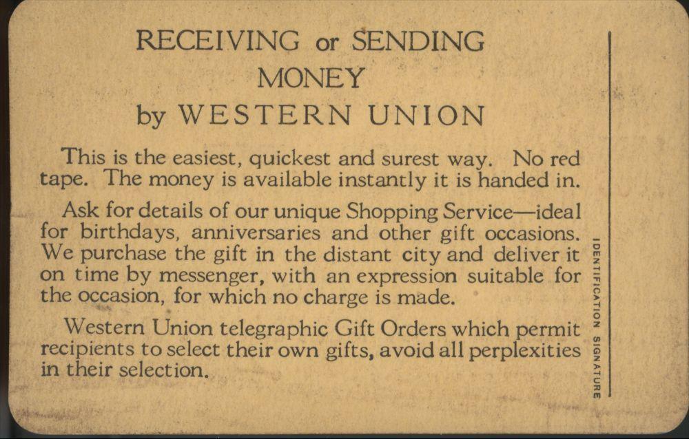 Western Union pass - 2