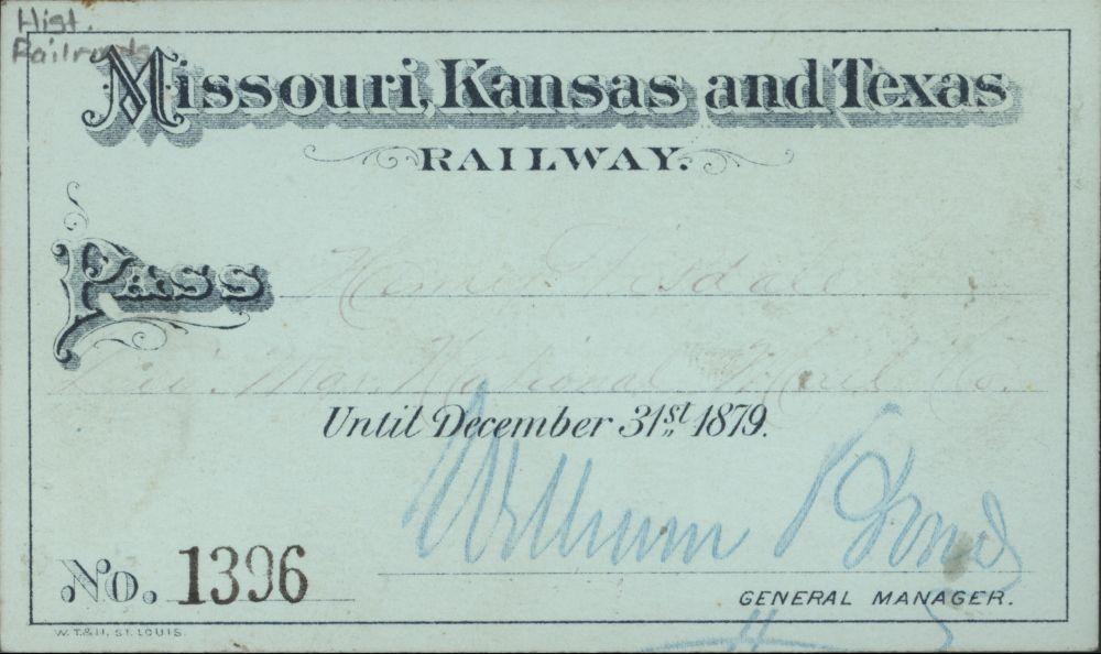 Missouri- Kansas- Texas Railroad passes - 1