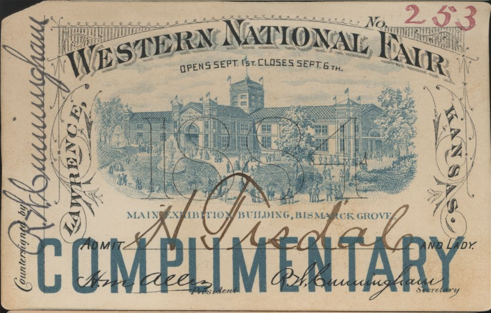 Railroad passes from Western National Fair - 1