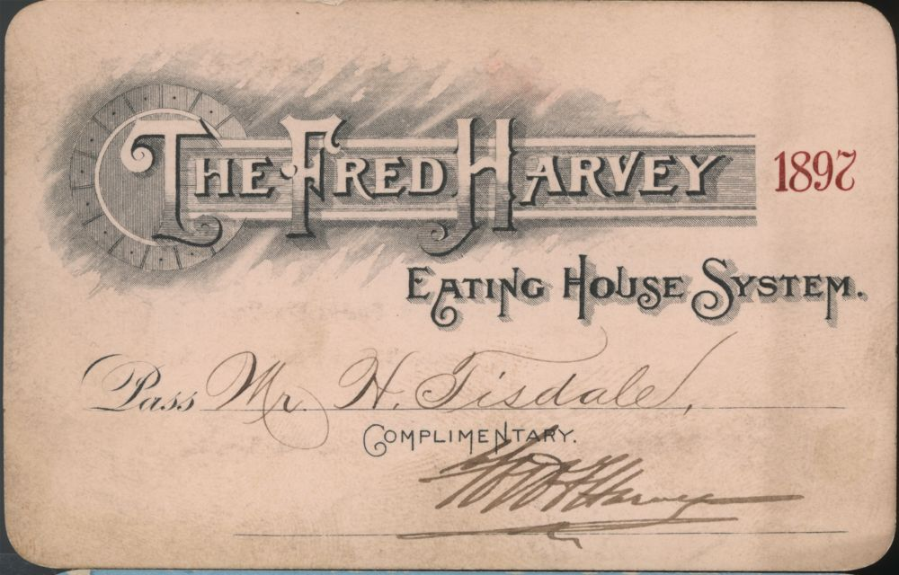 Fred Harvey system passes - 1