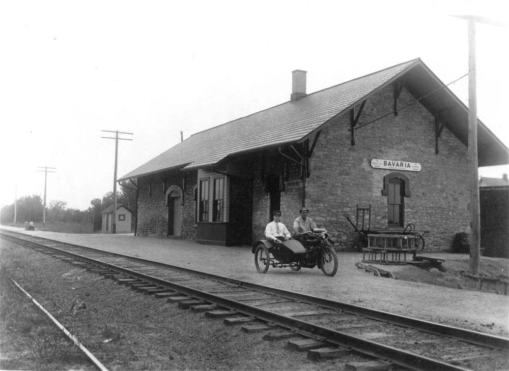 Union Pacific Railroad Company depot, Bavaria, Kansas