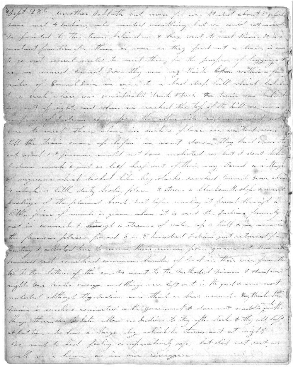 Crossing the Plains, the journal of Harriett Bidwell Shaw - 7