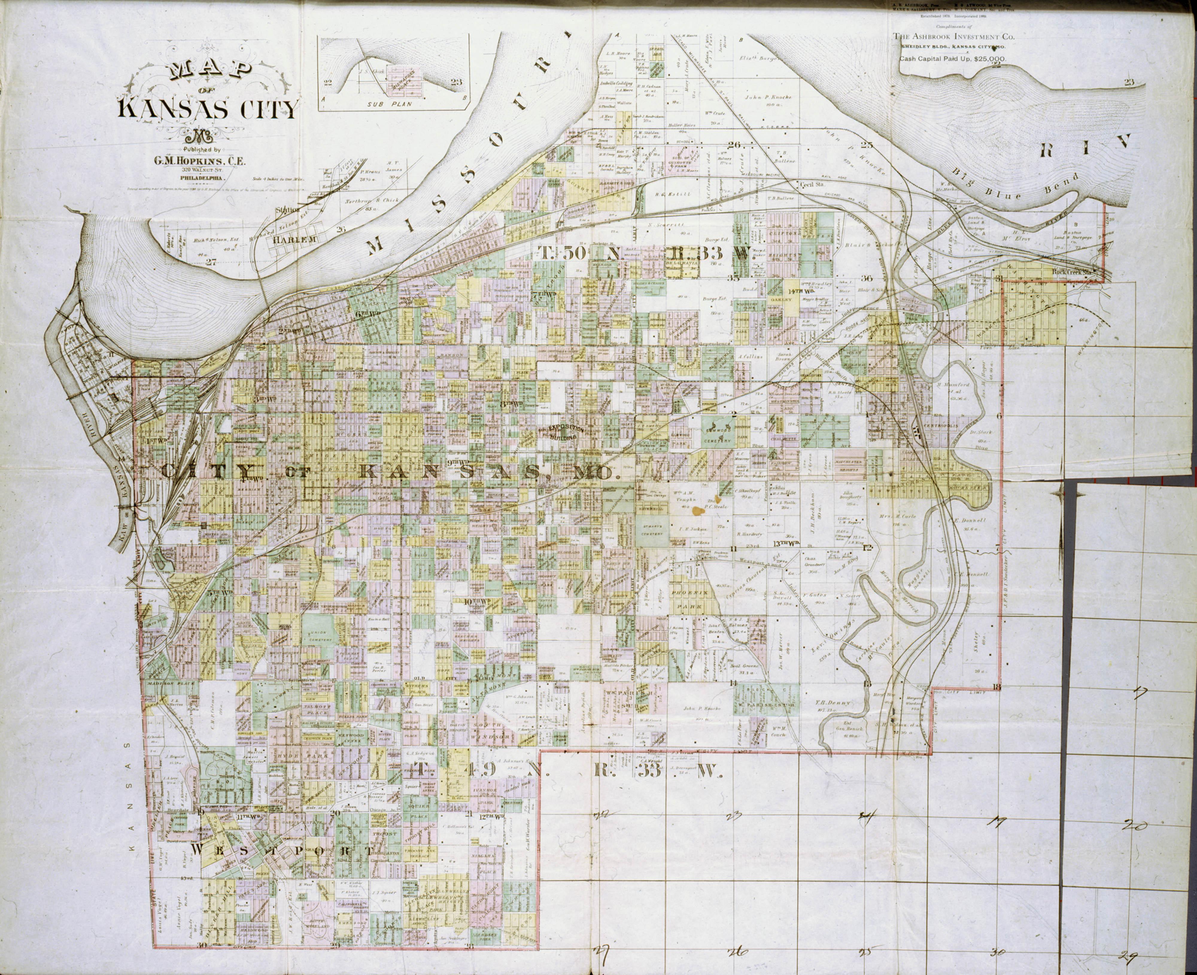 Map of Kansas City, Missouri - Kansas Memory - Kansas Historical Society