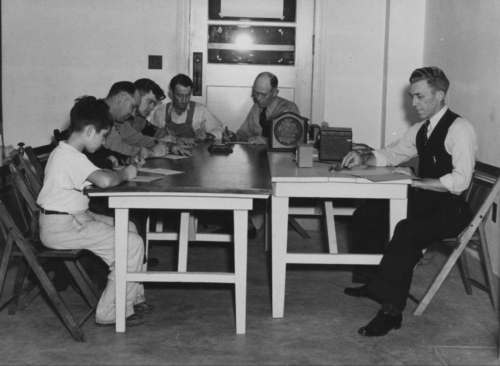 Radio training class, Emporia, Kansas