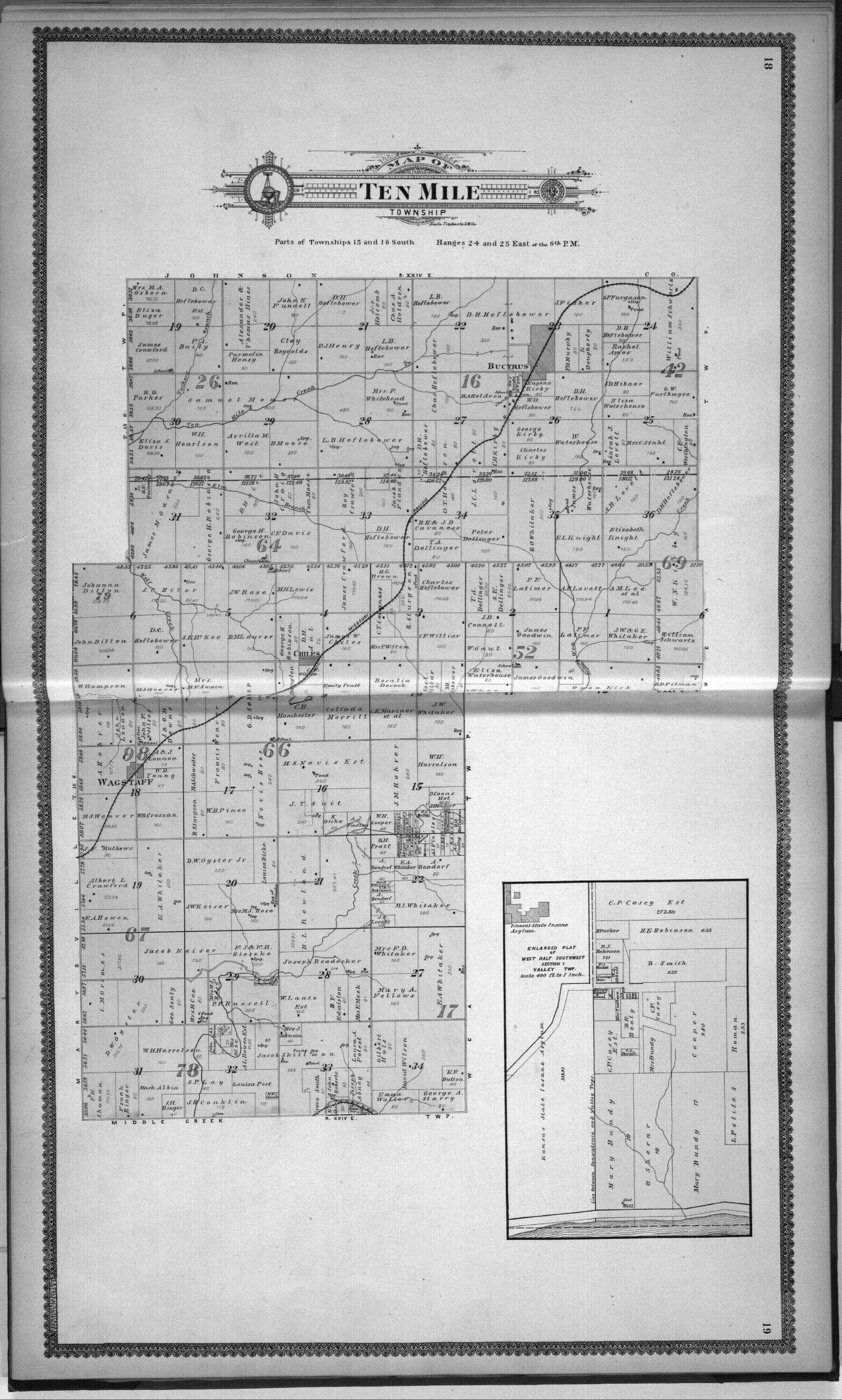 Standard atlas, Miami County, Kansas - 18 & 19