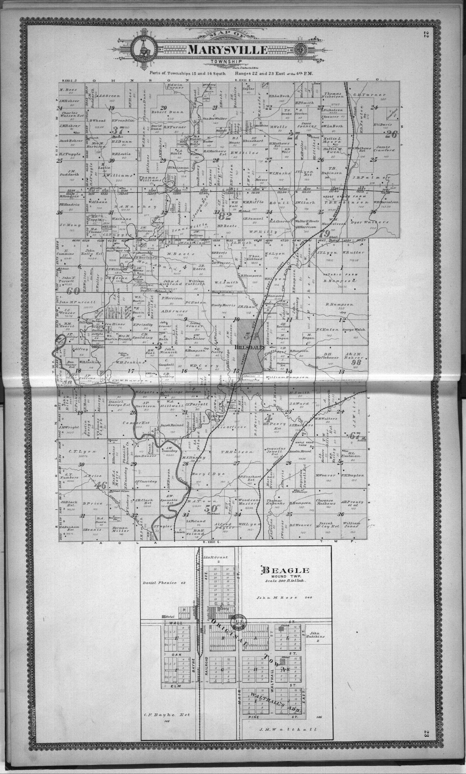Standard atlas, Miami County, Kansas - 22 & 23