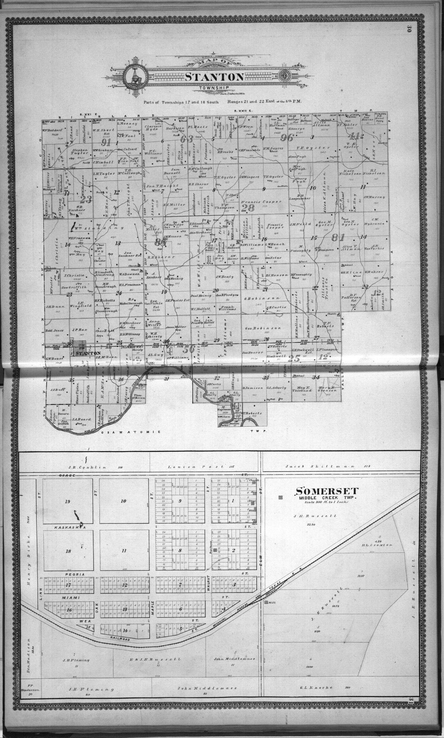 Standard atlas, Miami County, Kansas - 30 & 31