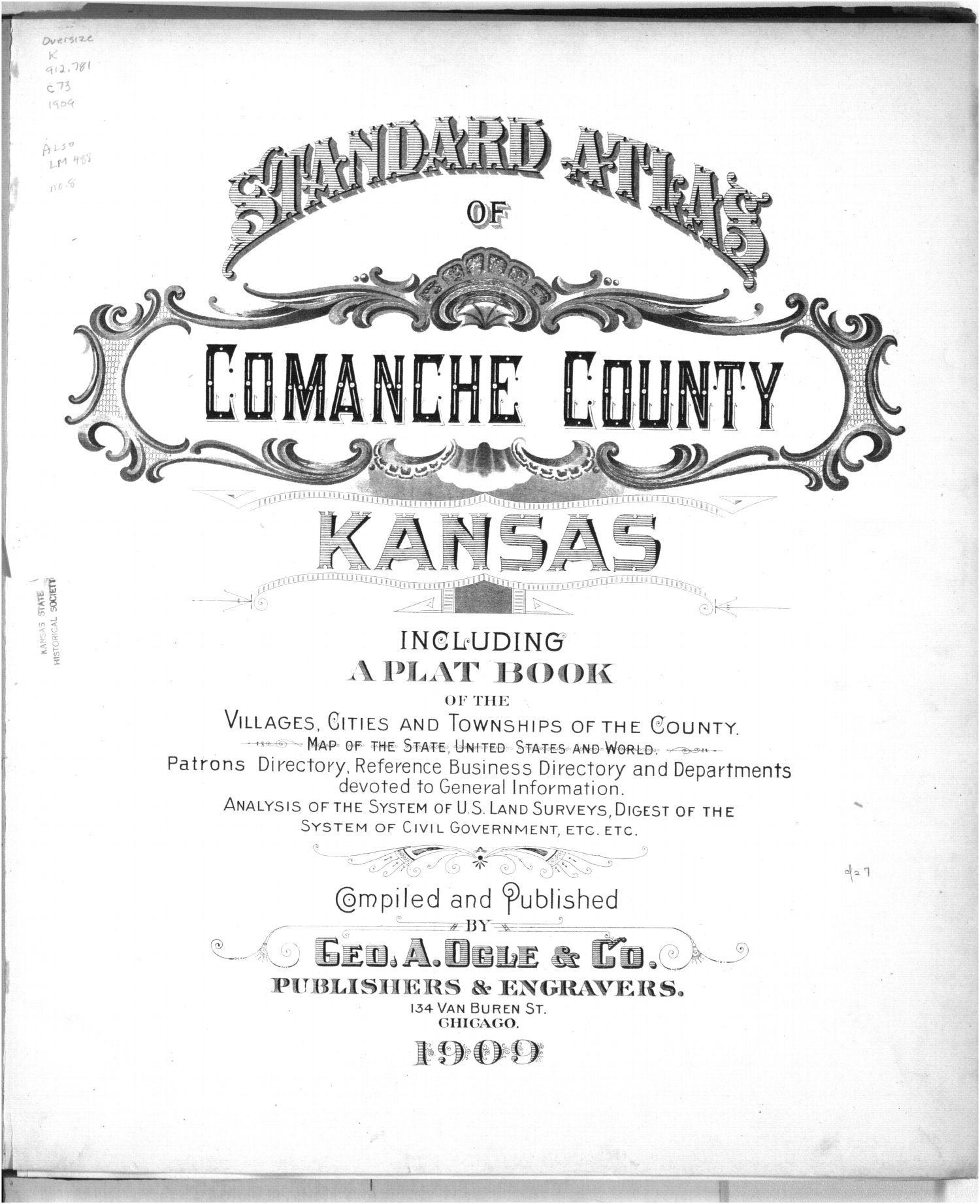 Standard atlas of Comanche County, Kansas - Title Page