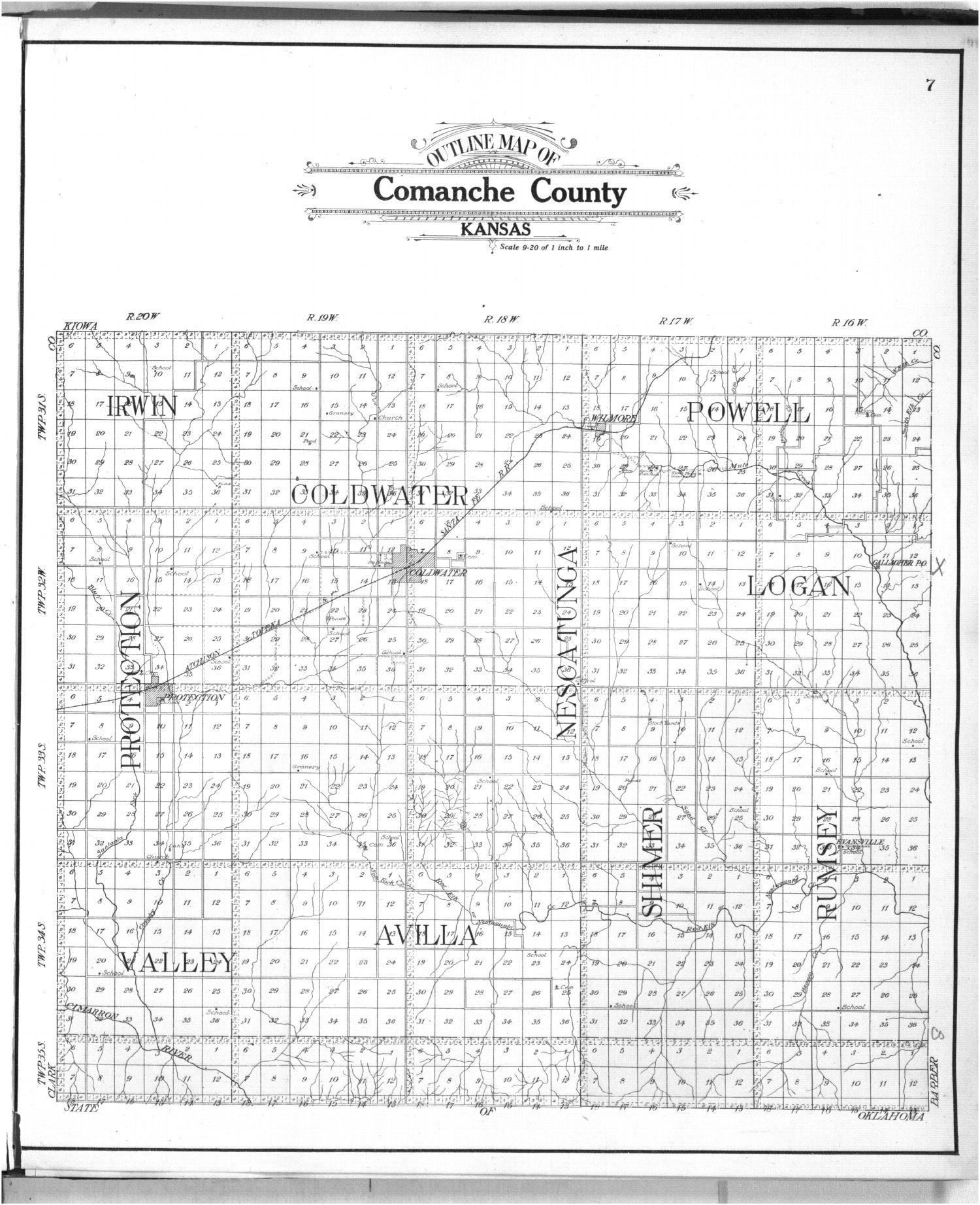 Standard atlas of Comanche County, Kansas - 7