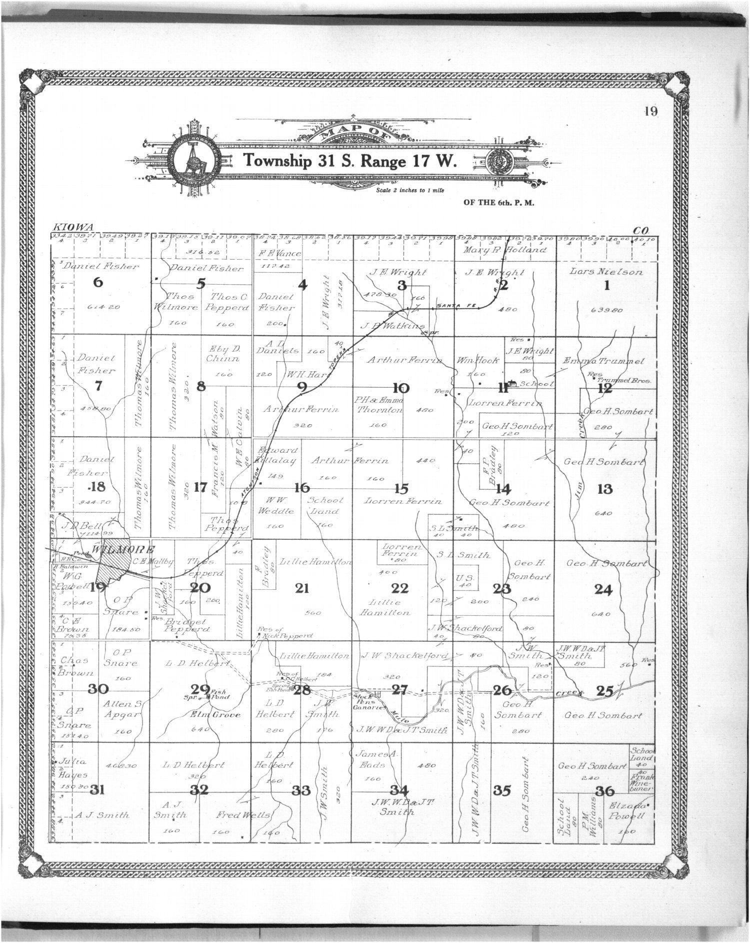 Standard atlas of Comanche County, Kansas - 19