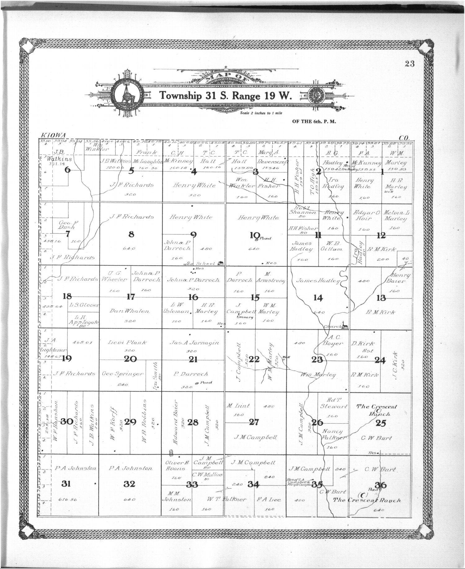 Standard atlas of Comanche County, Kansas - 23