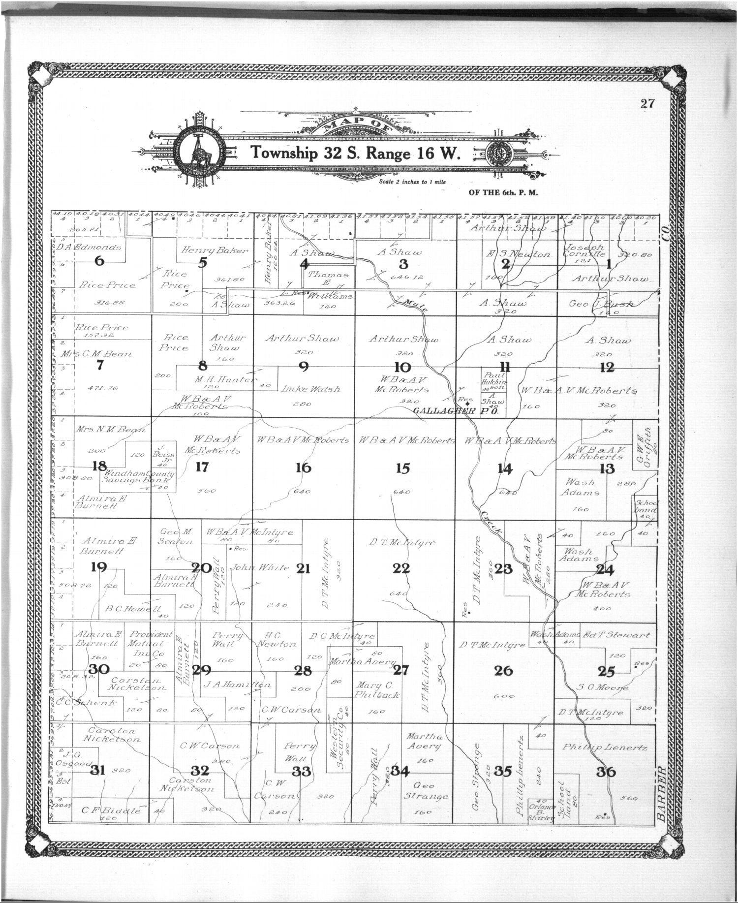 Standard atlas of Comanche County, Kansas - 27