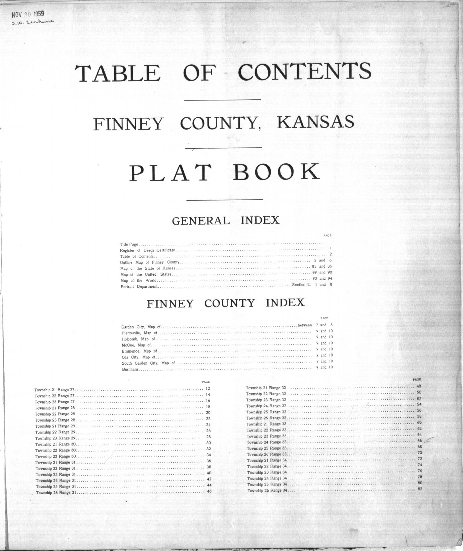 Plat book of Finney County, Kansas - 2