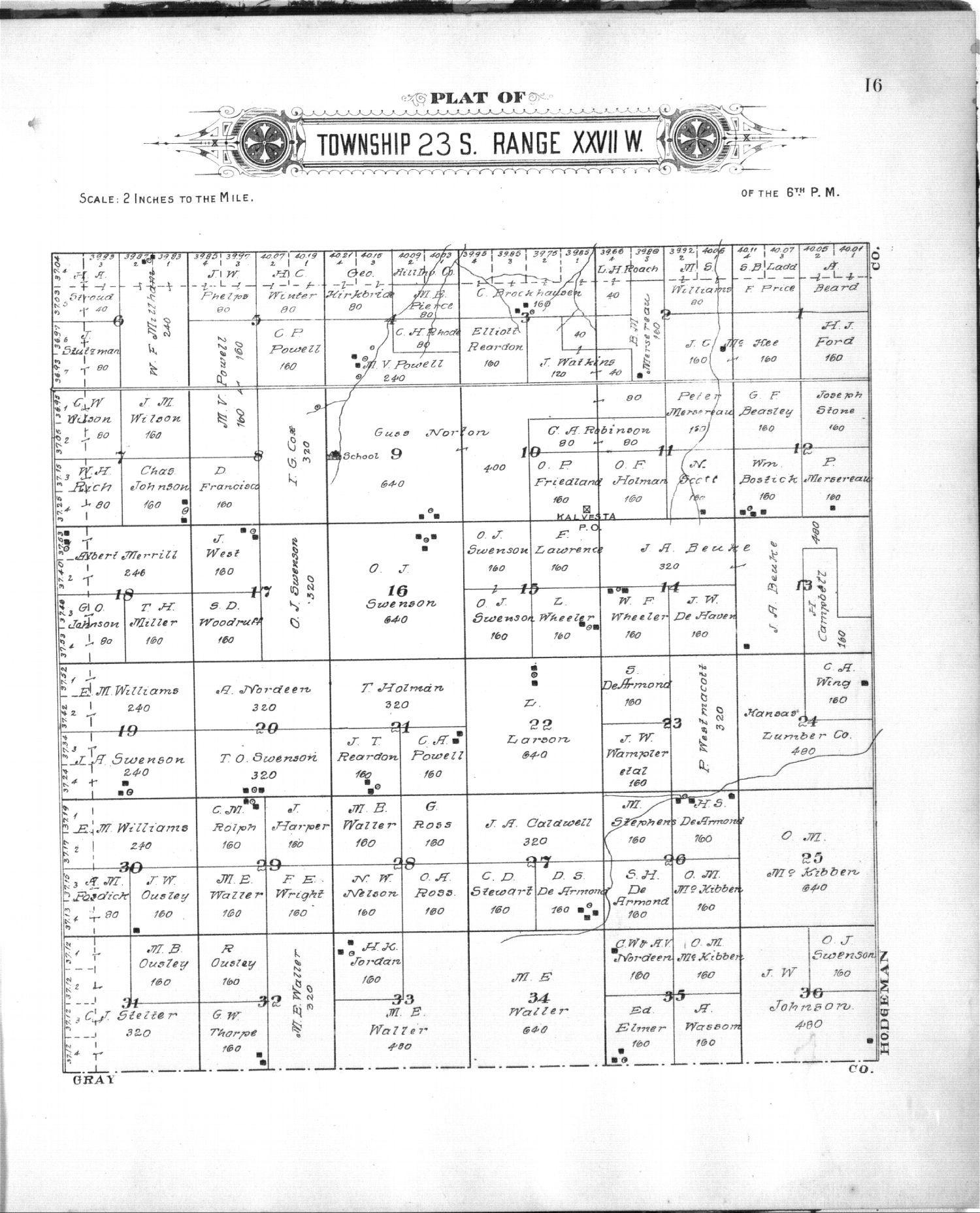 Plat book of Finney County, Kansas - 8