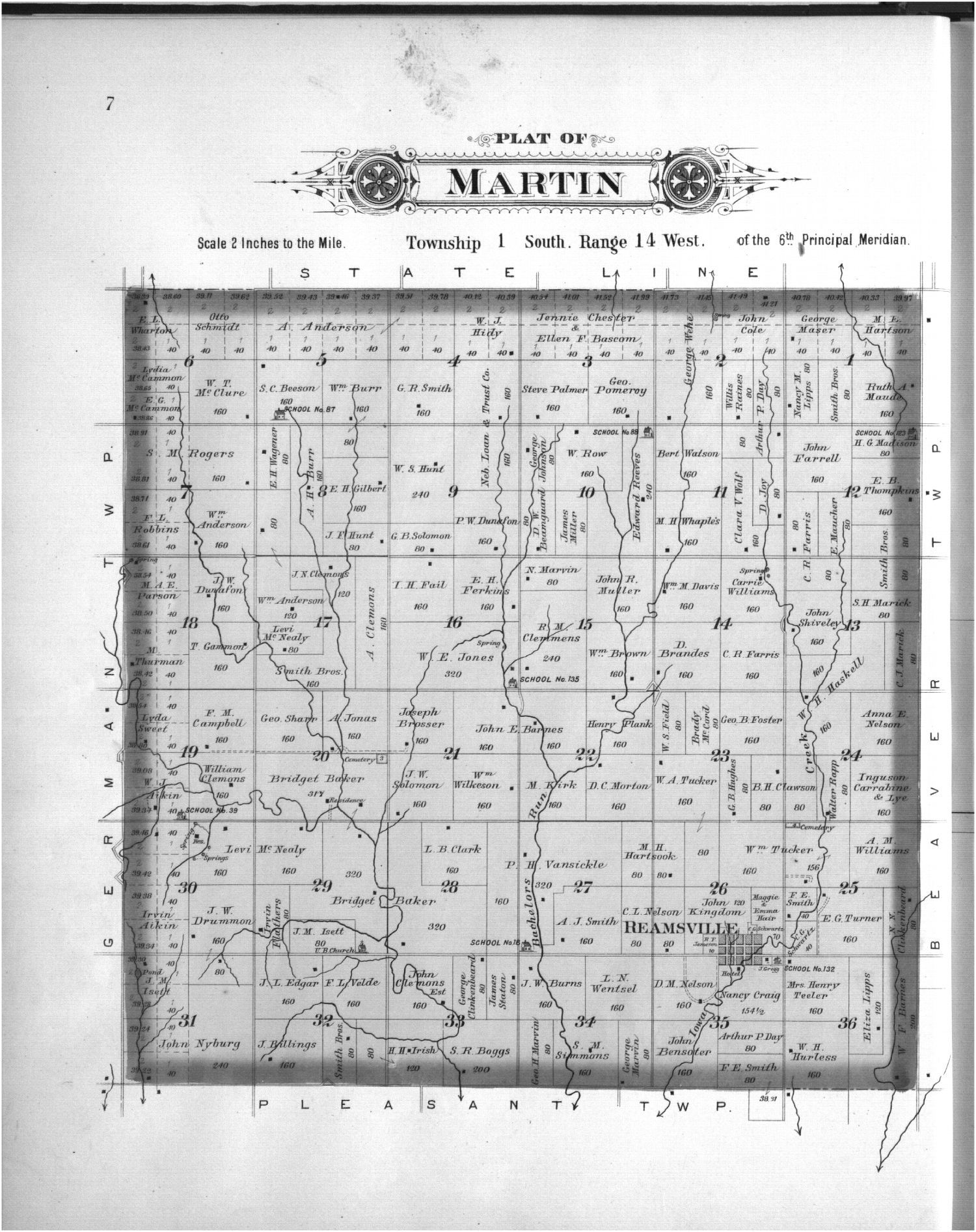 Plat book, Smith County, Kansas - 7