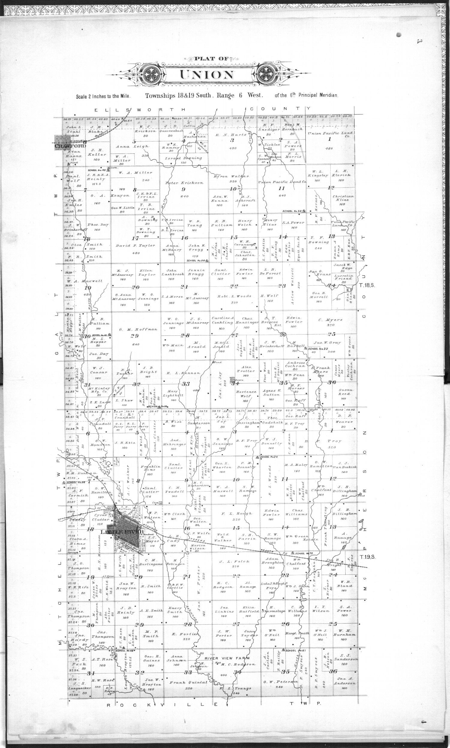 Plat book of Rice County, Kansas - 3 & 4