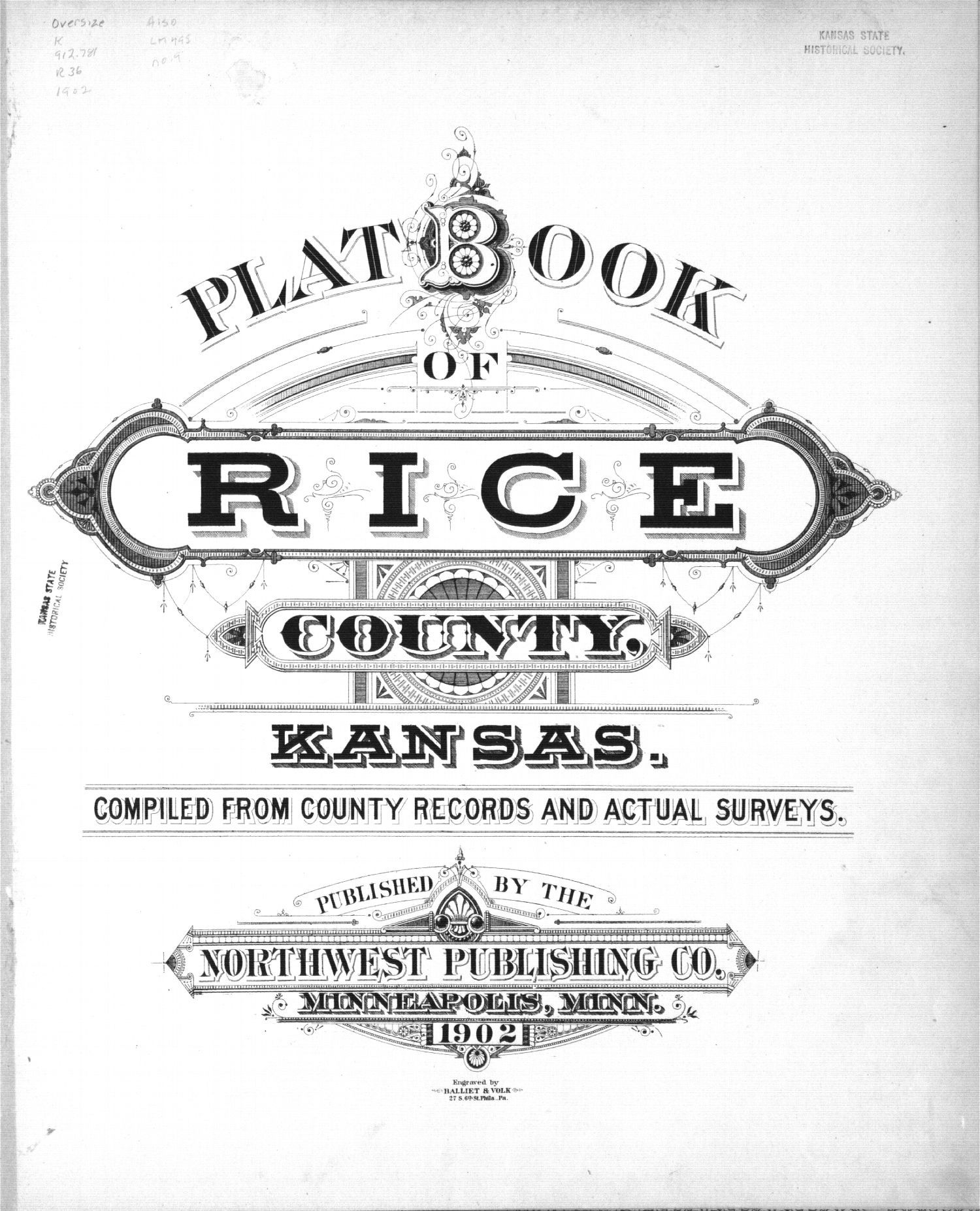 Plat book of Rice County, Kansas - Title Page