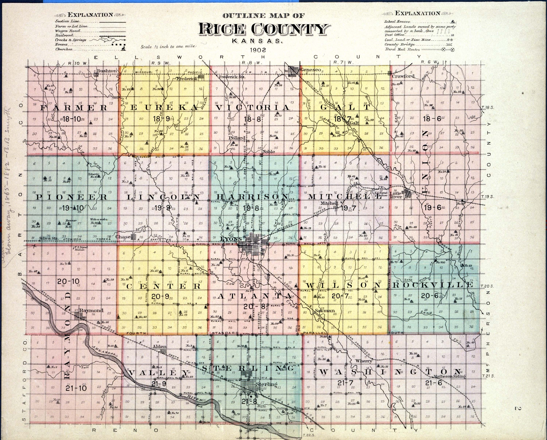 Plat book of Rice County, Kansas - 2