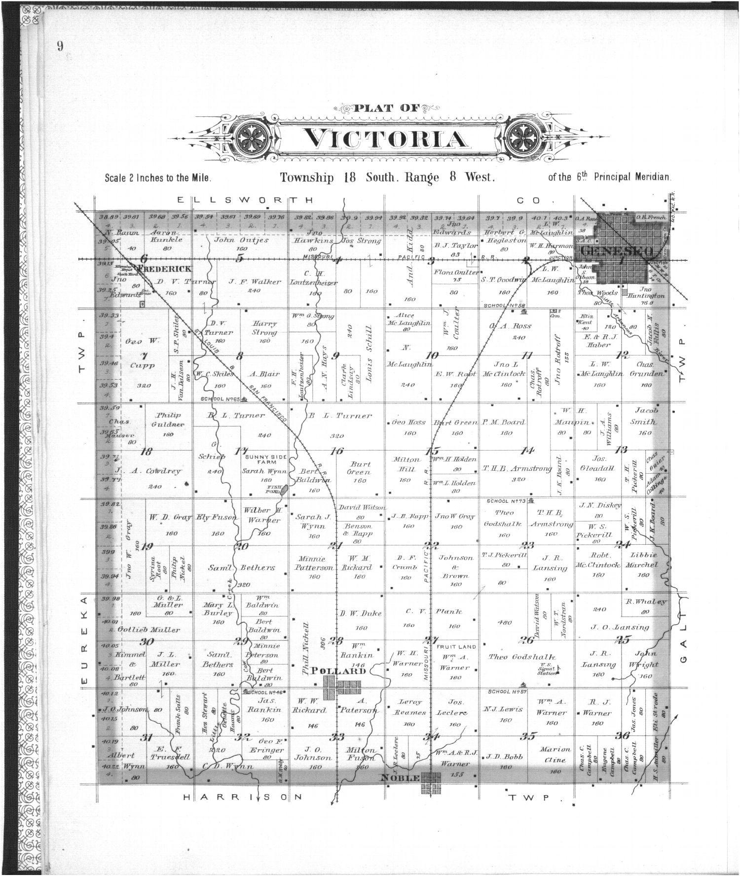 Plat book of Rice County, Kansas - 9