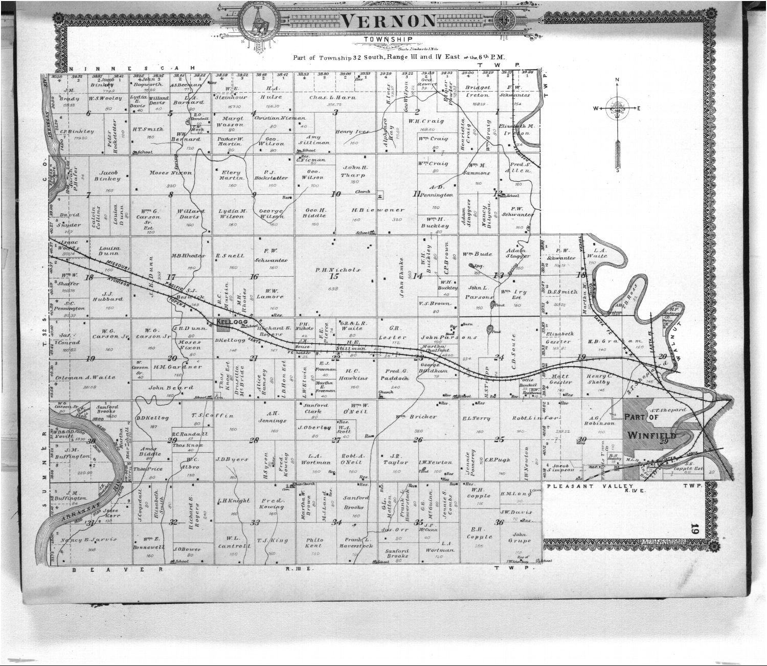 Standard atlas of Cowley County, Kansas - 19