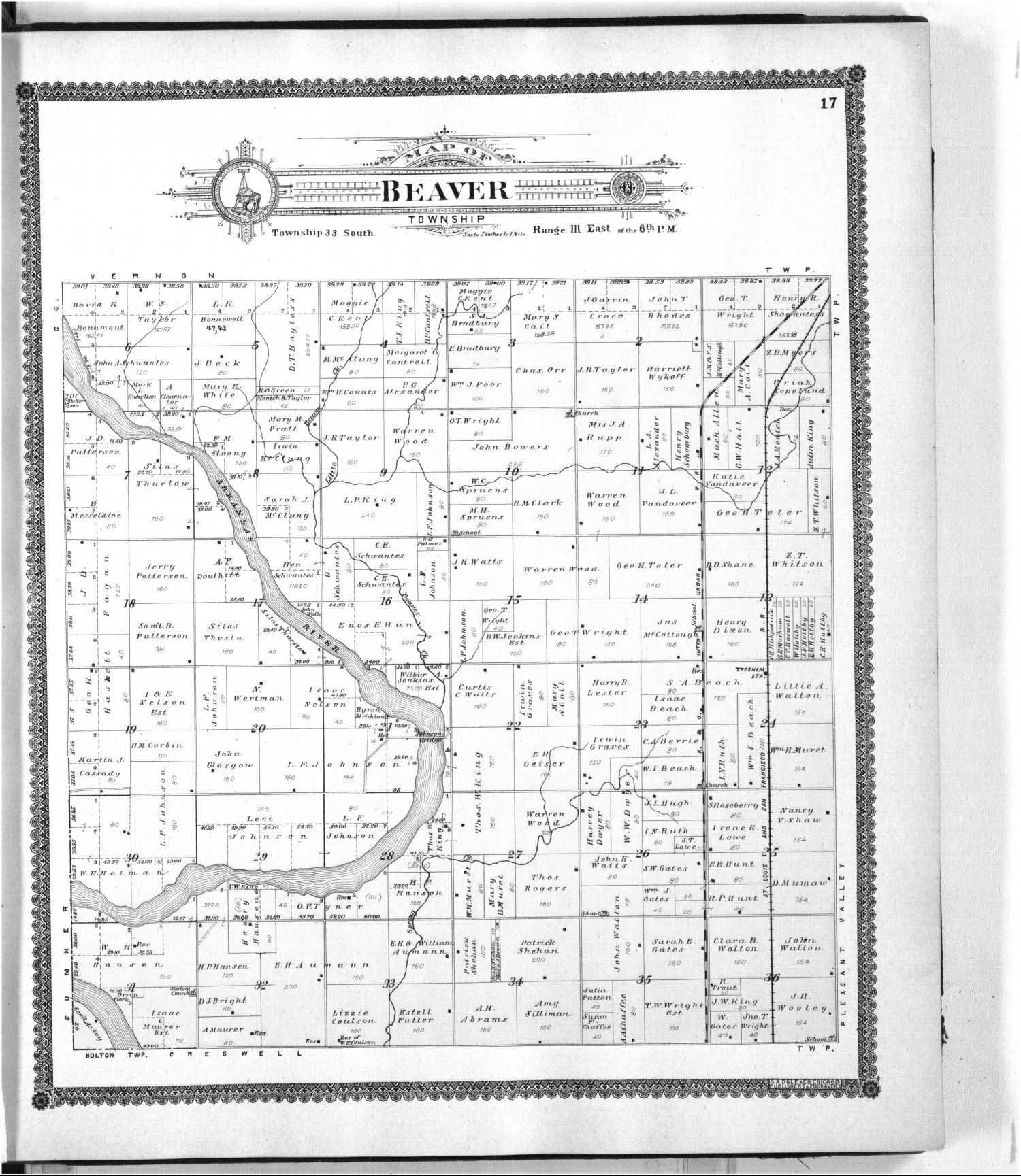 Standard atlas of Cowley County, Kansas - 17