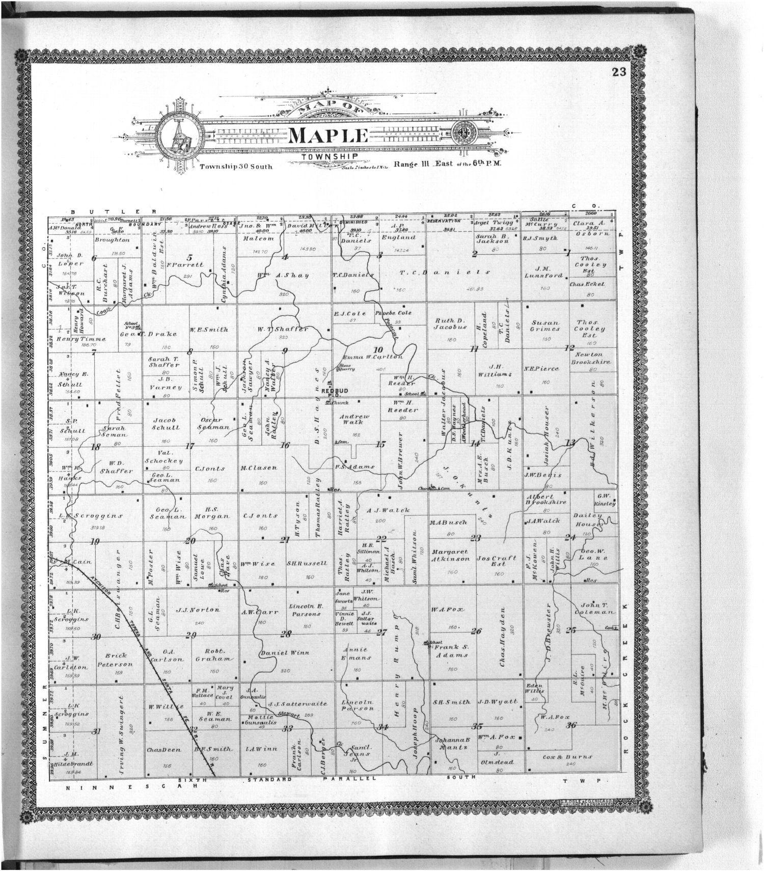 Standard atlas of Cowley County, Kansas - 23