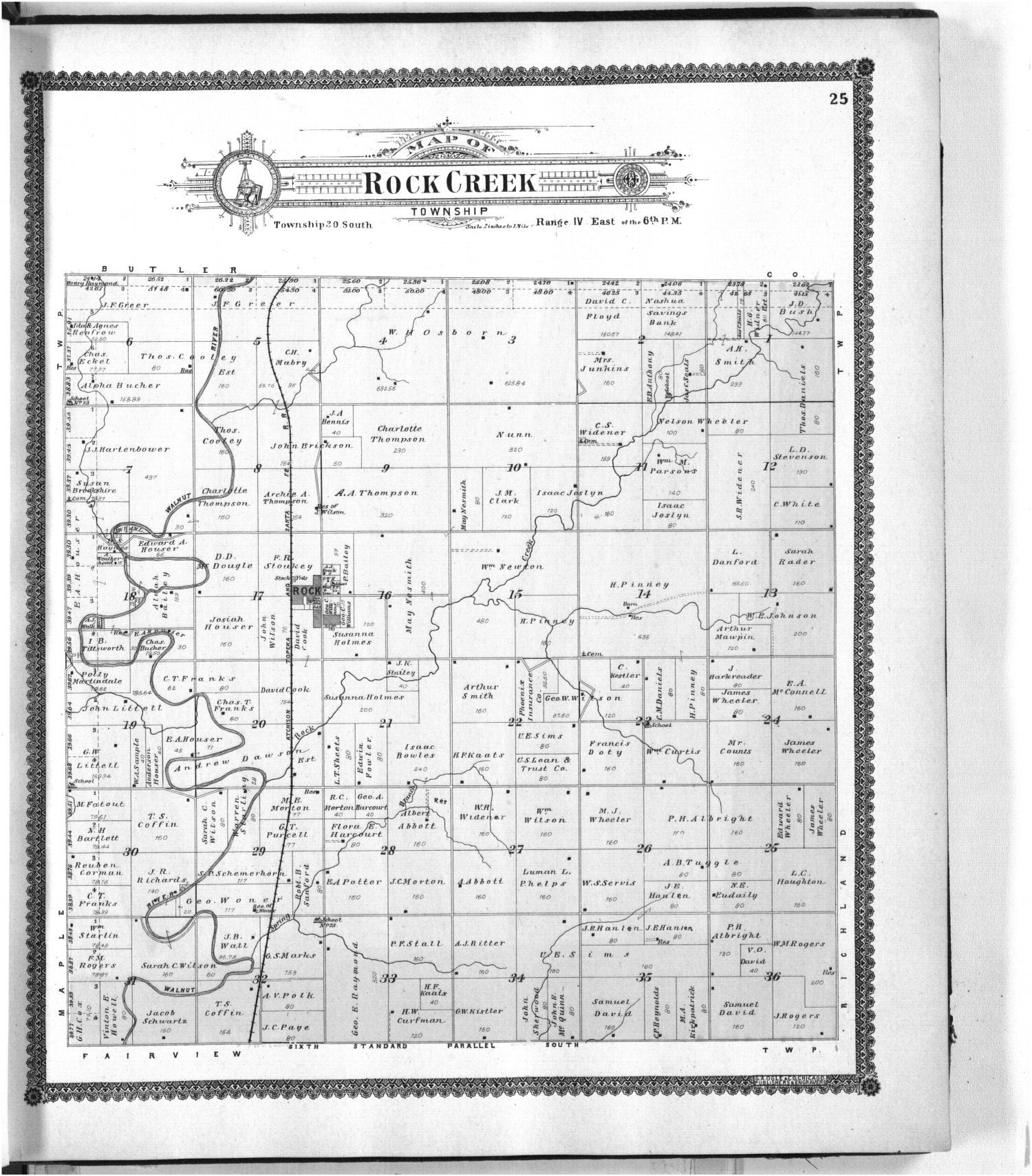 Standard atlas of Cowley County, Kansas - 25