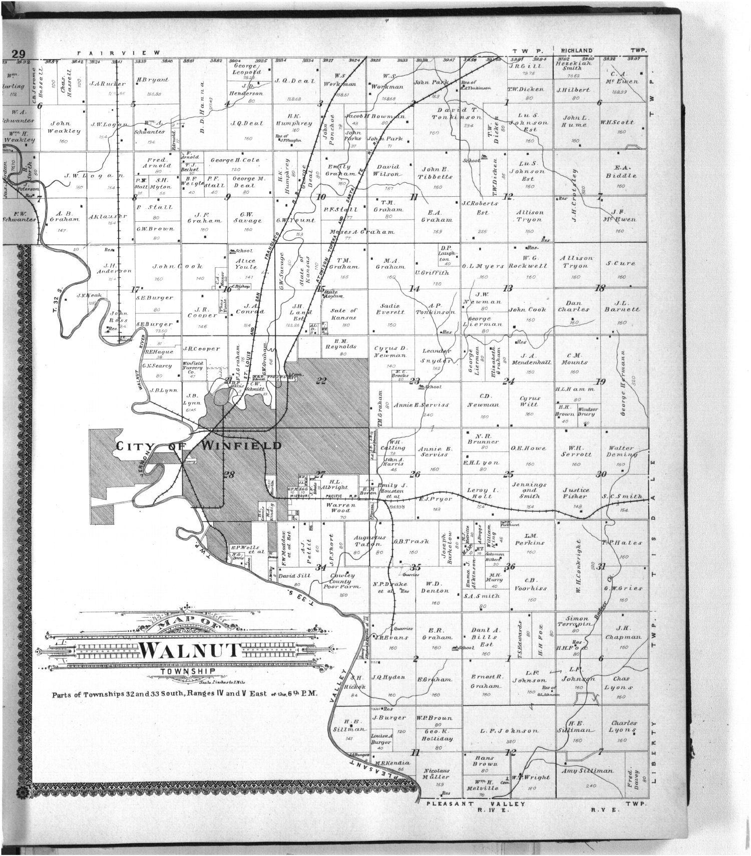 Standard atlas of Cowley County, Kansas - 29