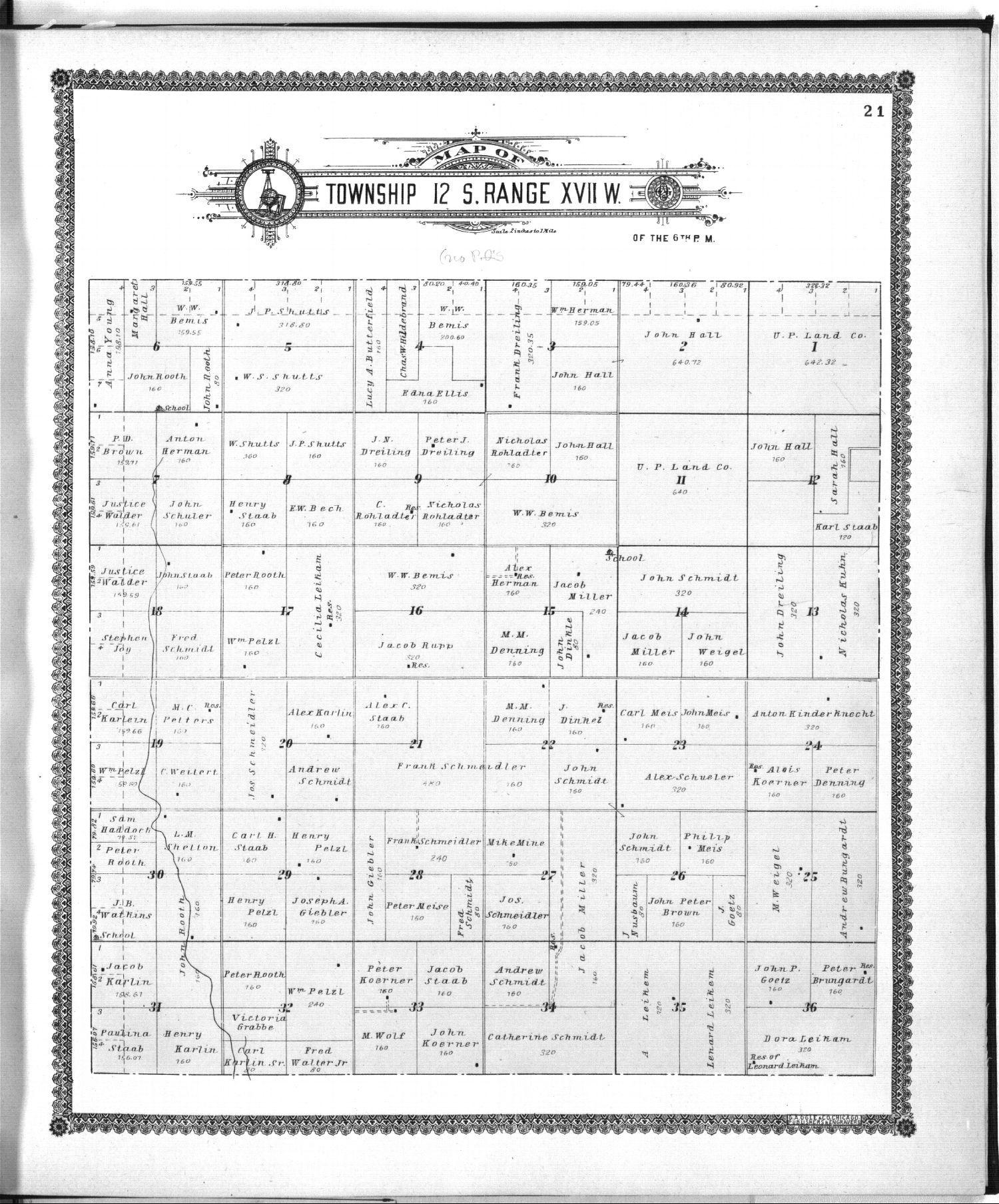 Standard atlas of Ellis County, Kansas - 21