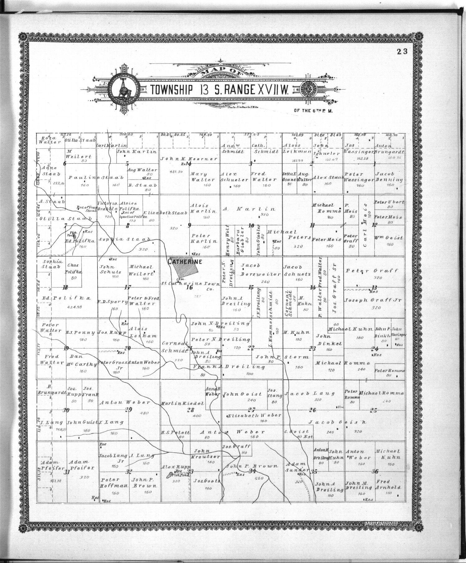 Standard atlas of Ellis County, Kansas - 23