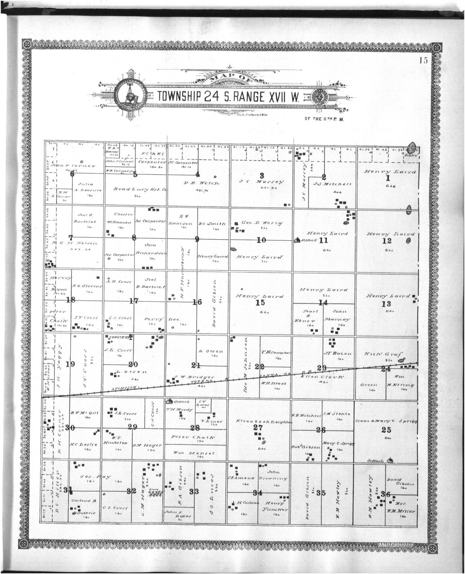 Standard atlas of Edwards County - 15