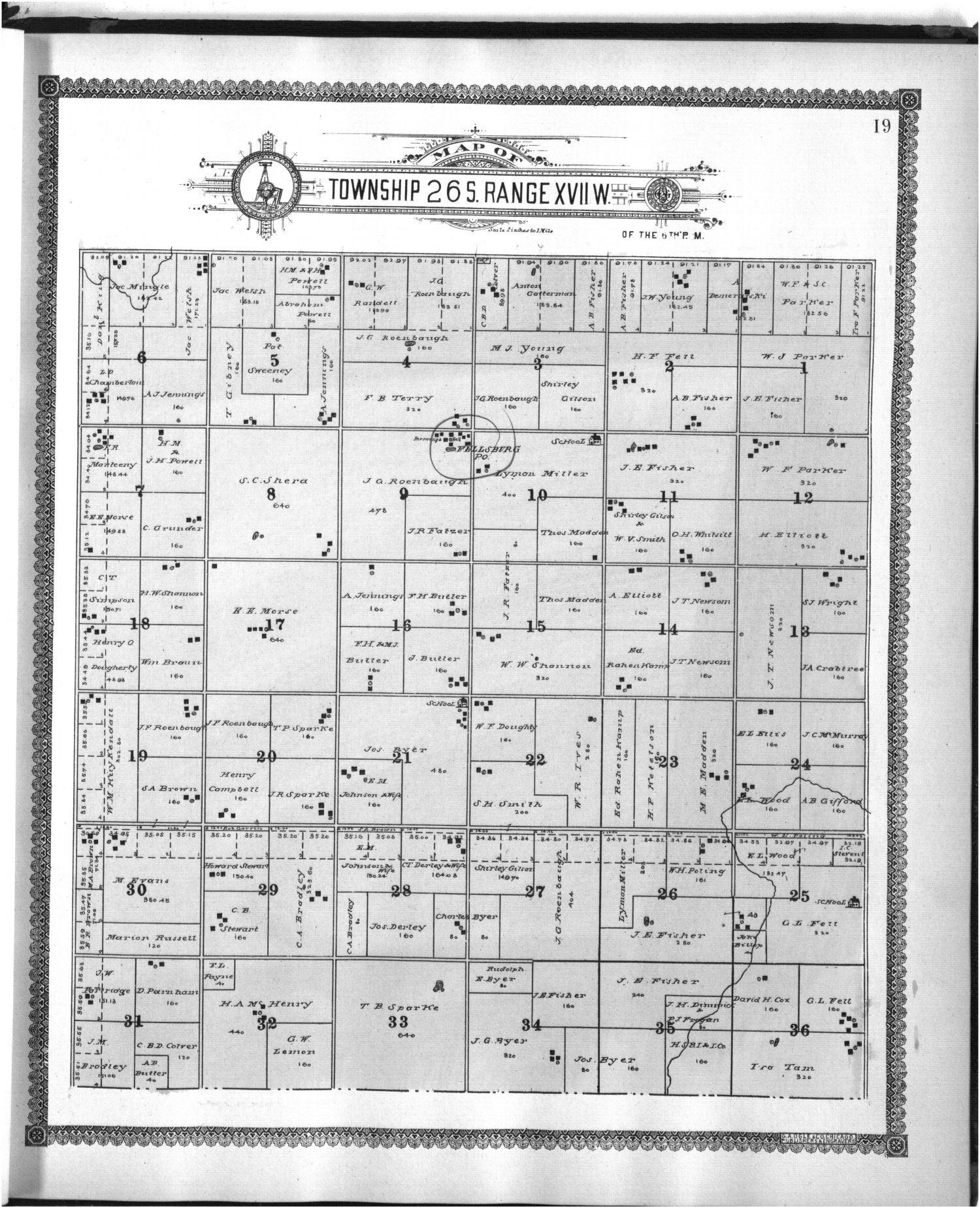 Standard atlas of Edwards County - 19
