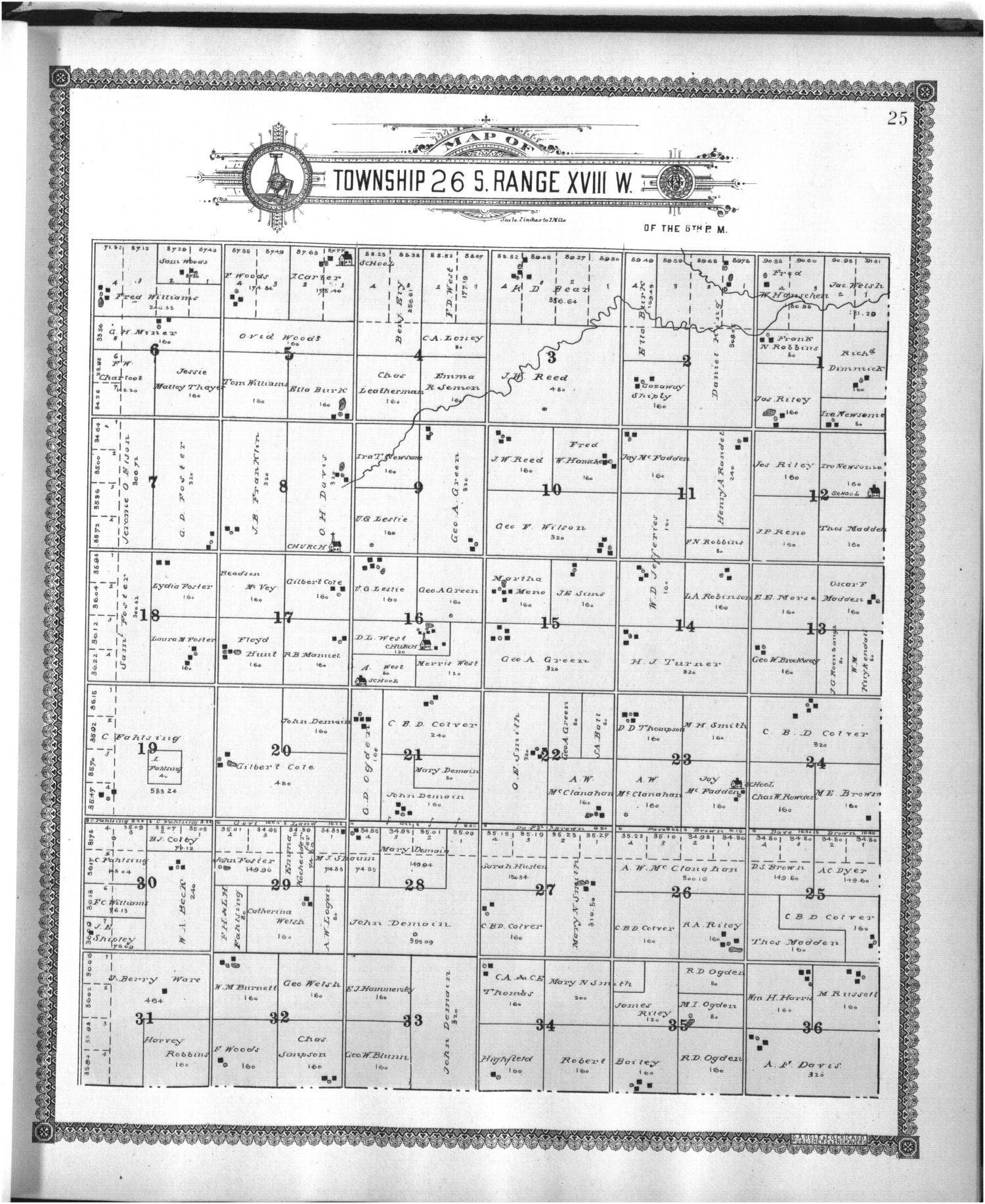 Standard atlas of Edwards County - 25