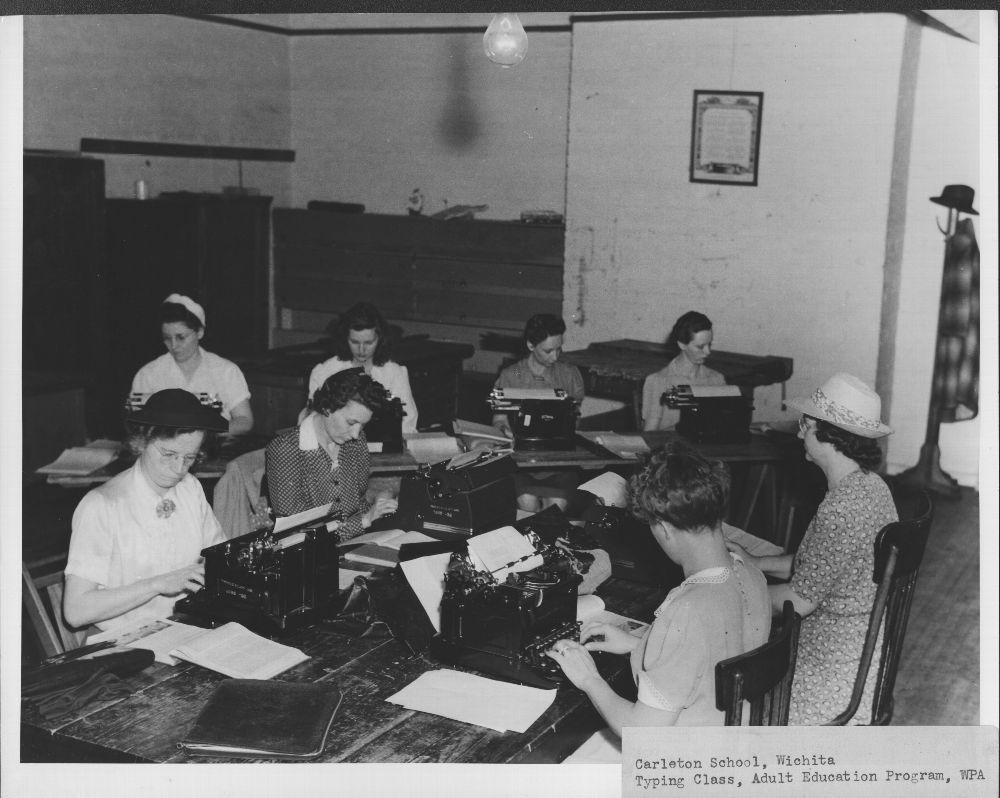 Typing class, Wichita, Kansas
