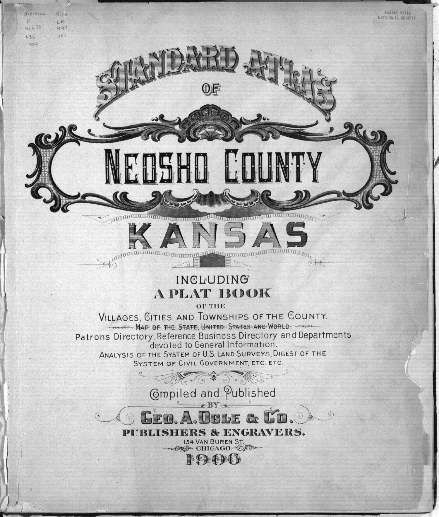 Standard atlas of Neosho County, Kansas - Title Page