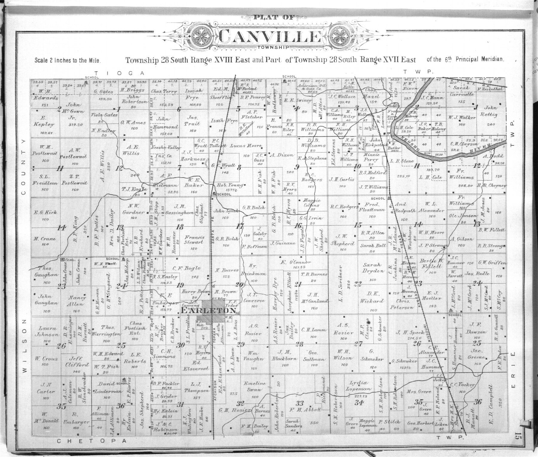 Standard atlas of Neosho County, Kansas - 15