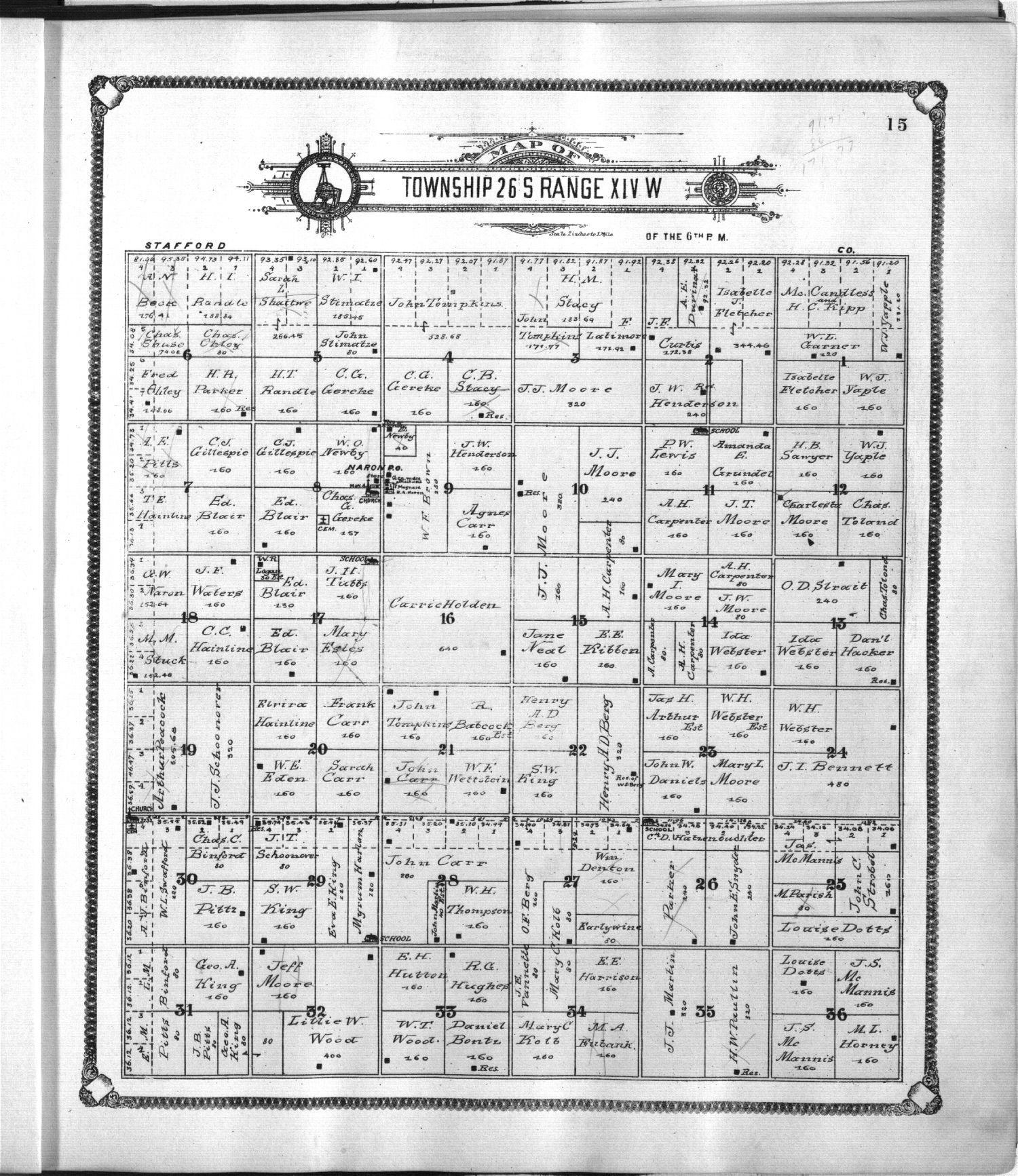 Standard atlas of Pratt County, Kansas - 15