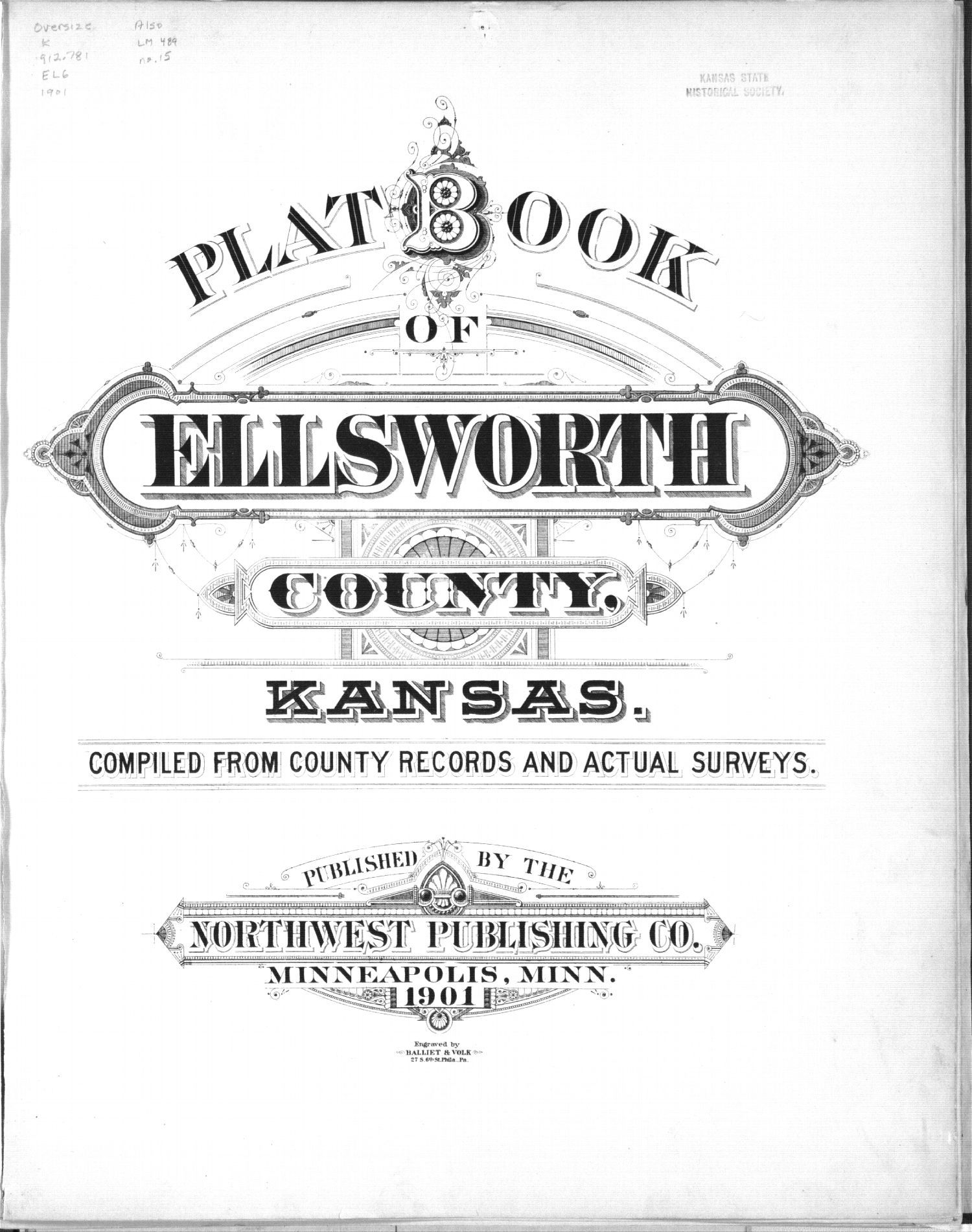 Plat book, Ellsworth County, Kansas - Title Page