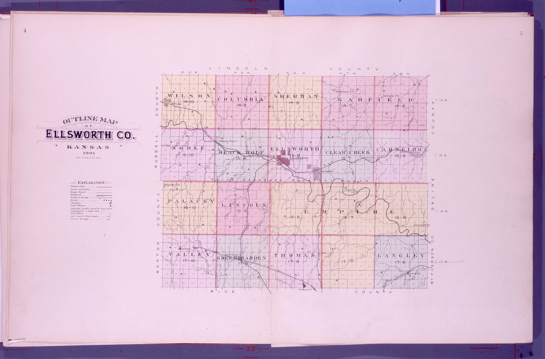 Plat book, Ellsworth County, Kansas - 4 & 5