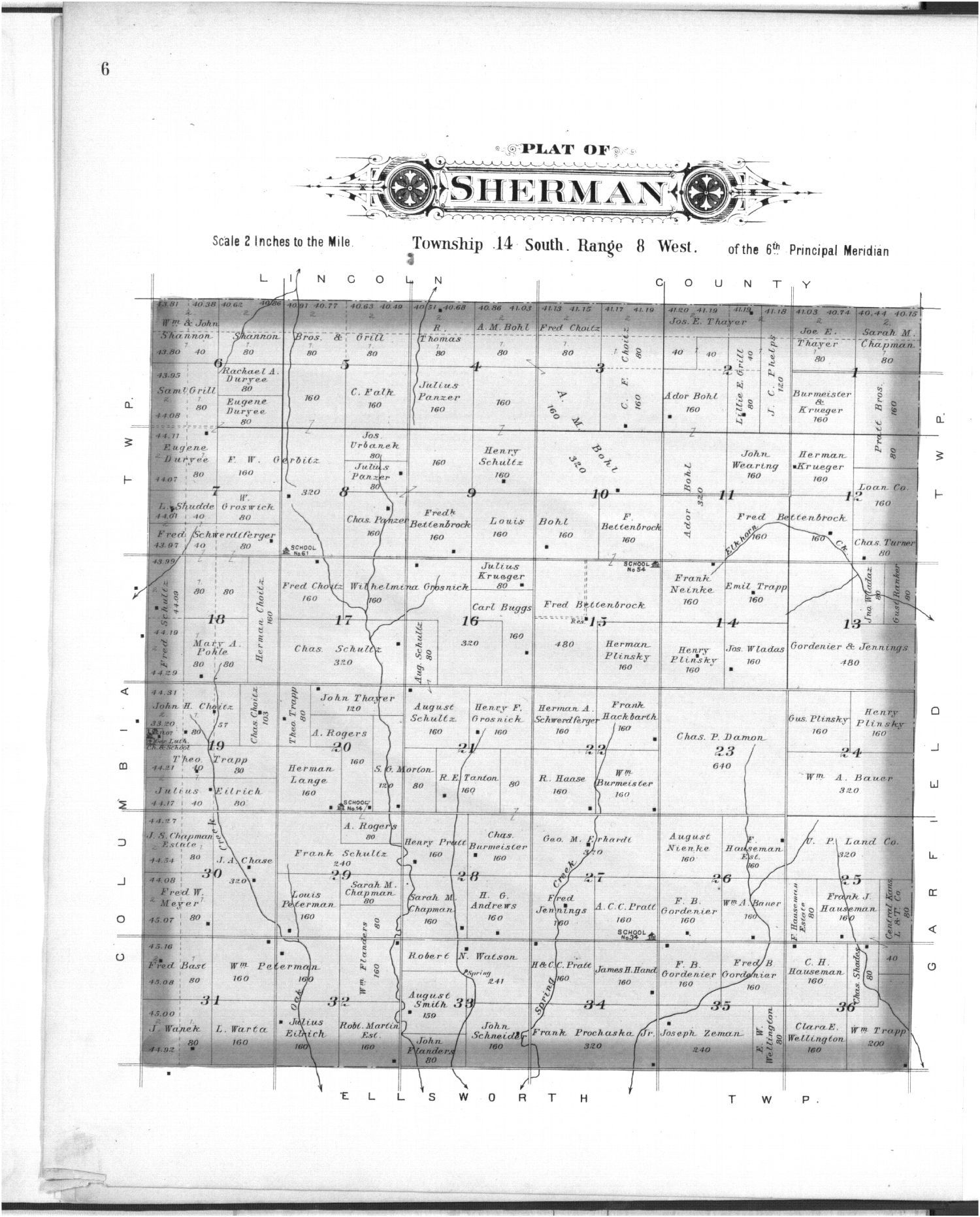 Plat book, Ellsworth County, Kansas - 6