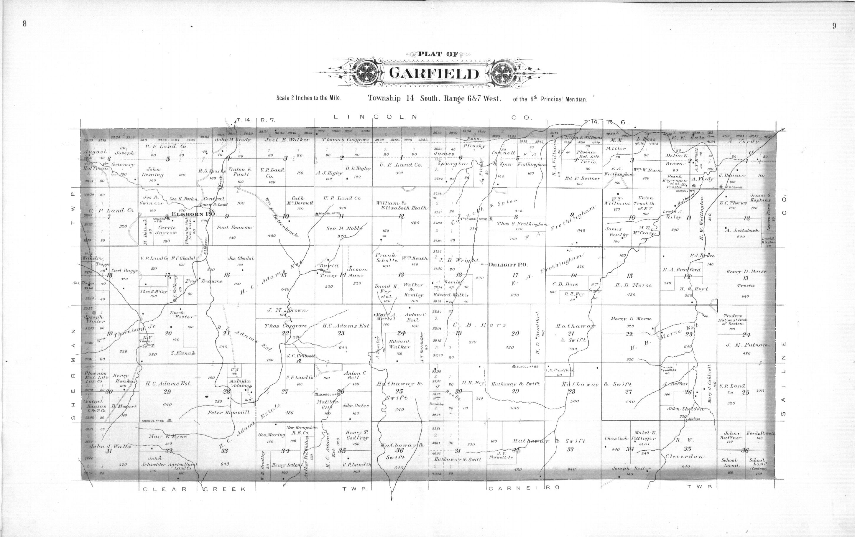 Plat book, Ellsworth County, Kansas - 8 & 9