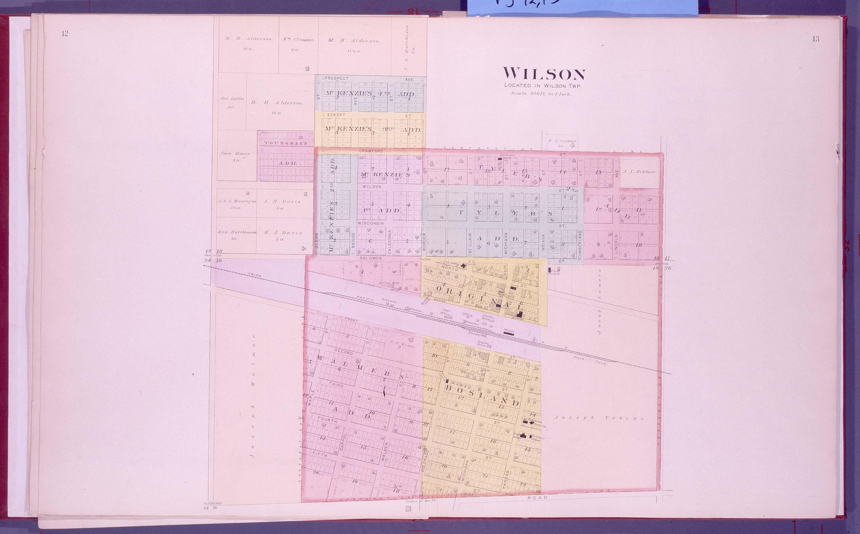 Plat book, Ellsworth County, Kansas - 12 & 13
