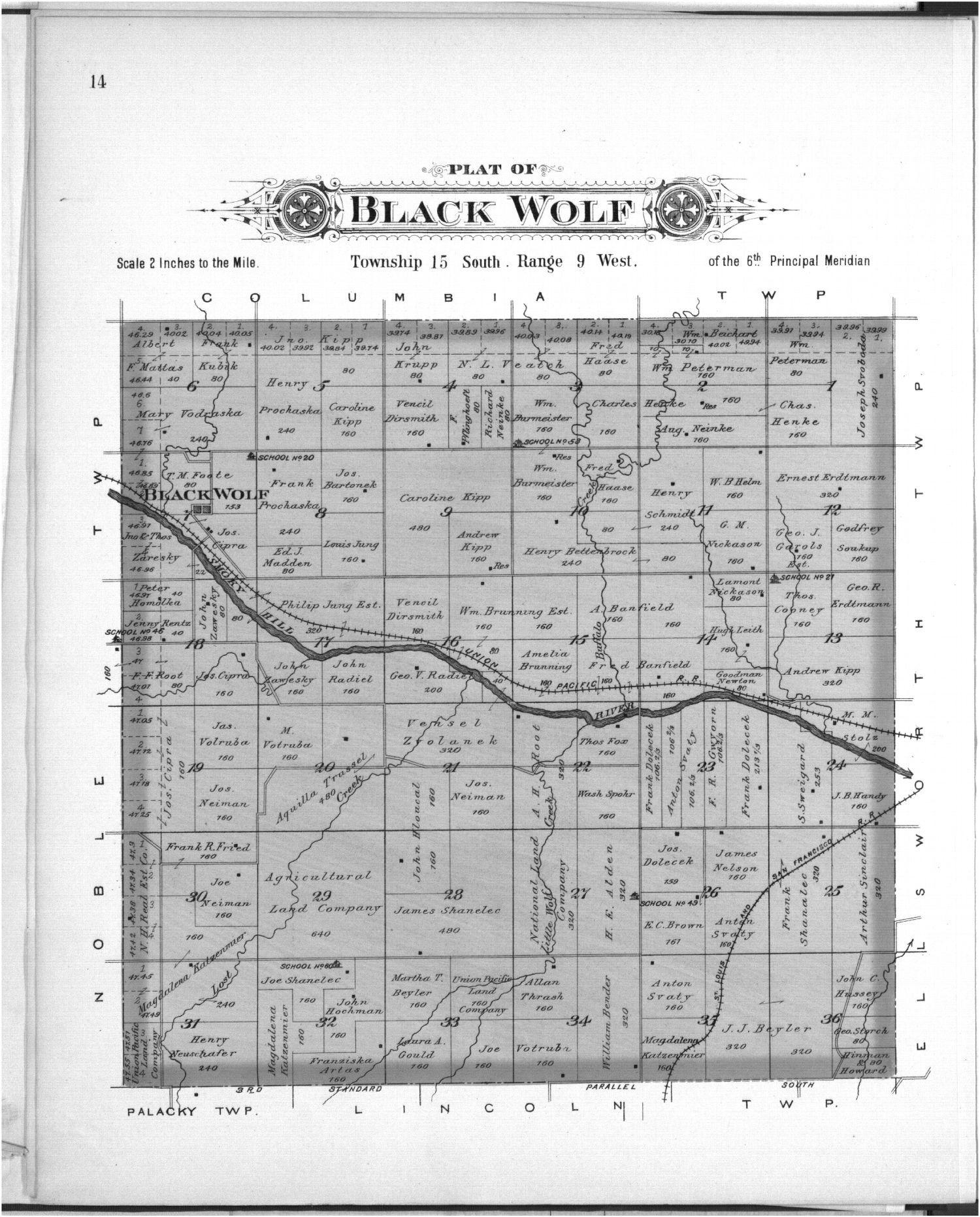 Plat book, Ellsworth County, Kansas - 14