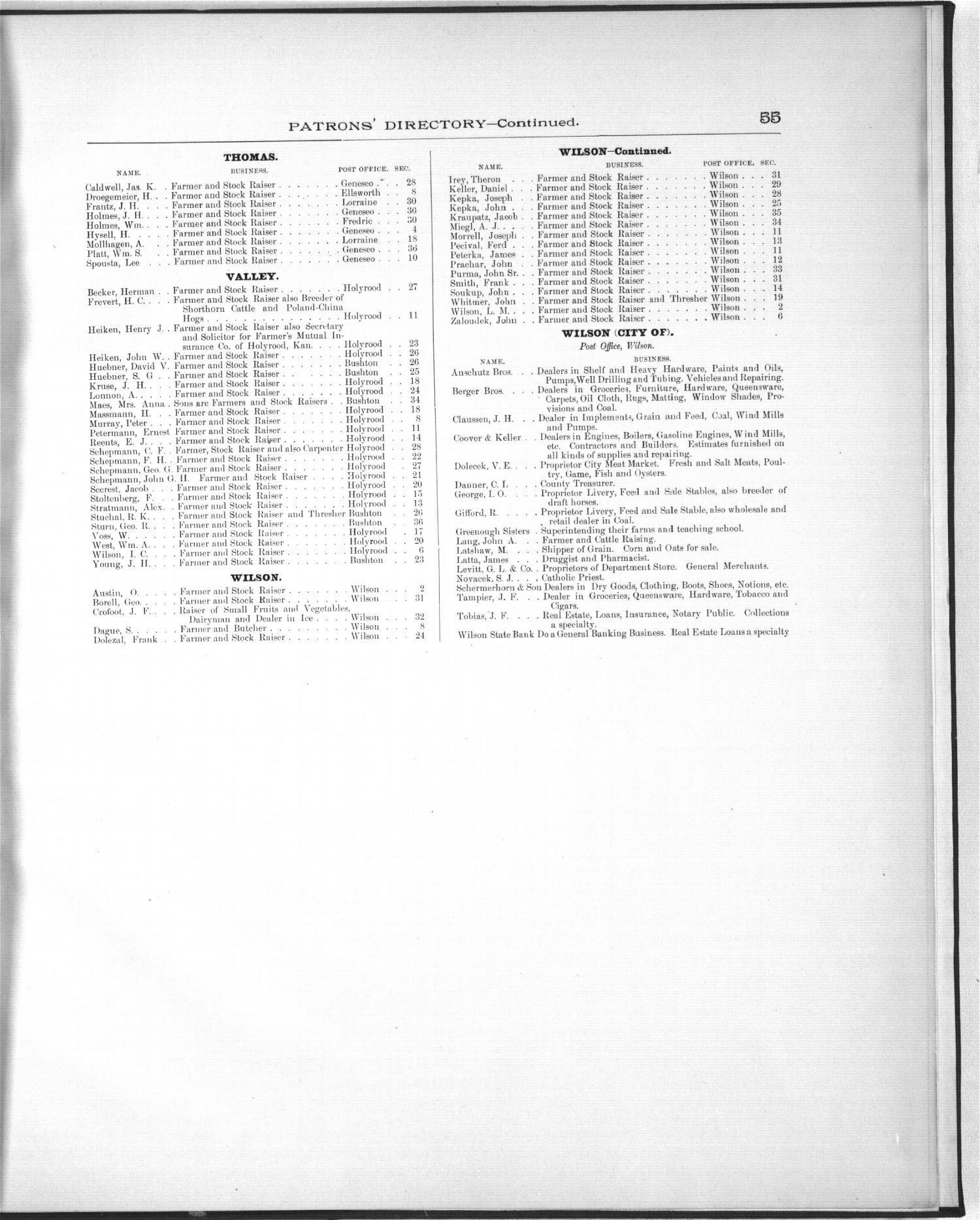 Plat book, Ellsworth County, Kansas - 55