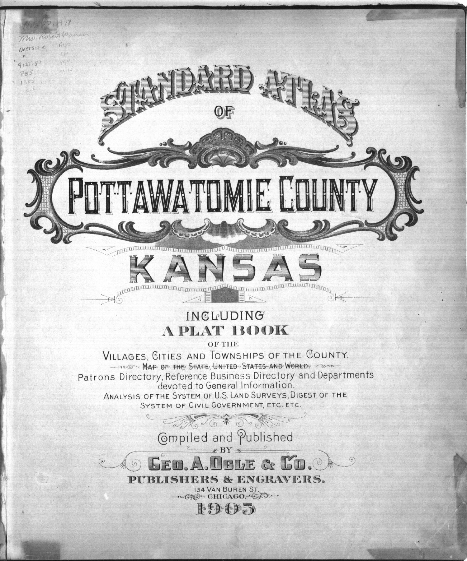 Standard atlas of Pottawatomie County, Kansas - Title Page