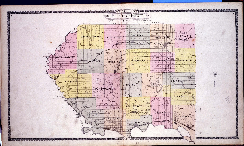 Standard atlas of Pottawatomie County, Kansas - 8 & 9