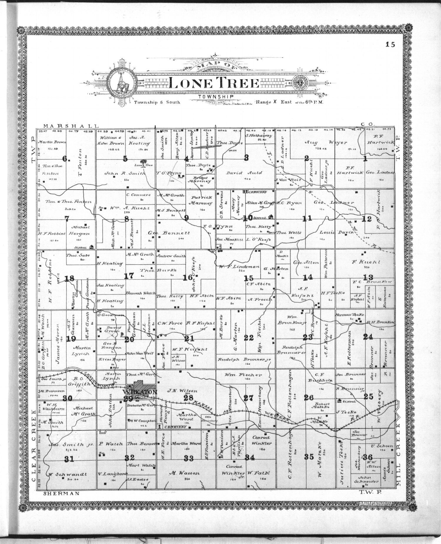 Standard atlas of Pottawatomie County, Kansas - 15