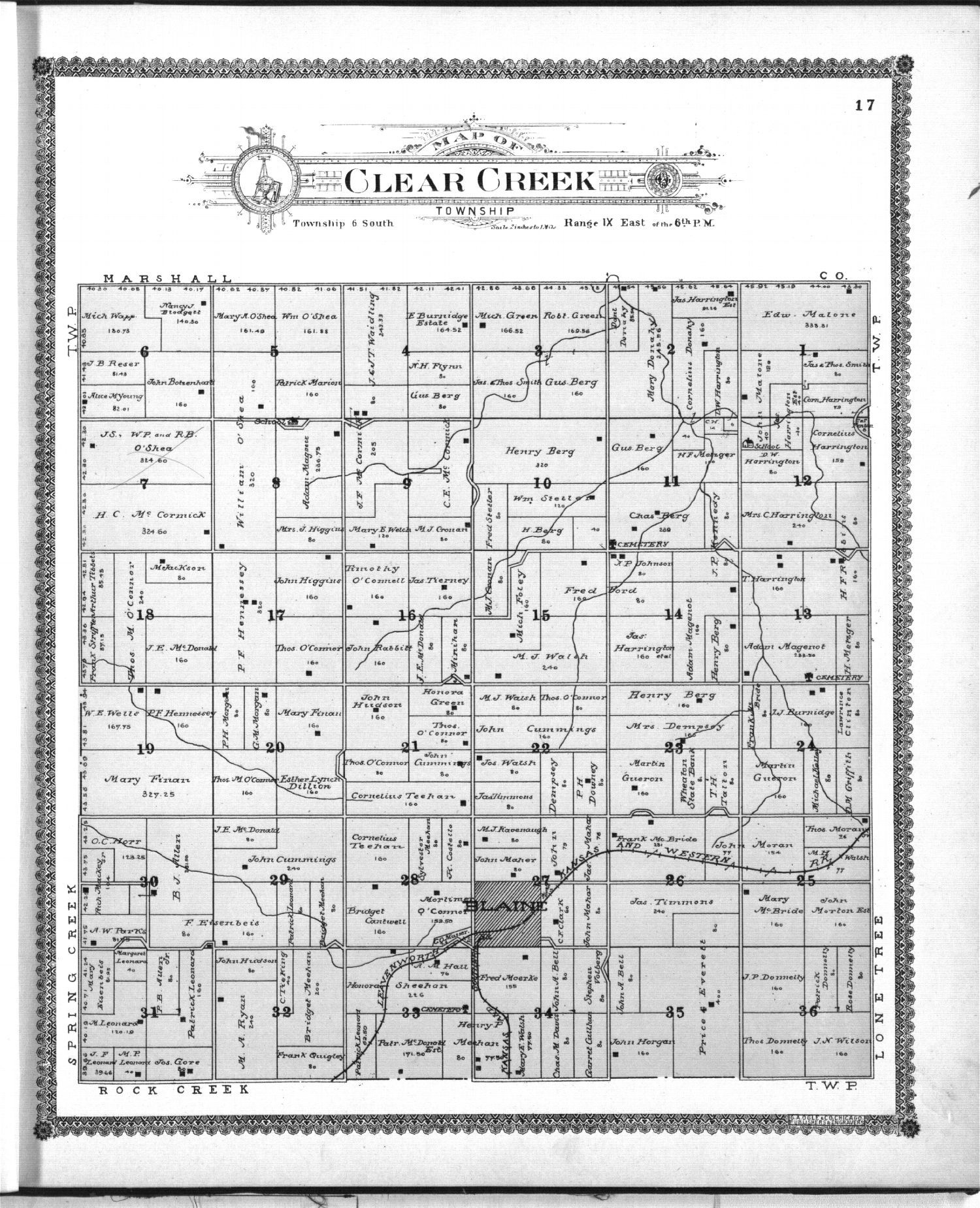 Standard atlas of Pottawatomie County, Kansas - 17