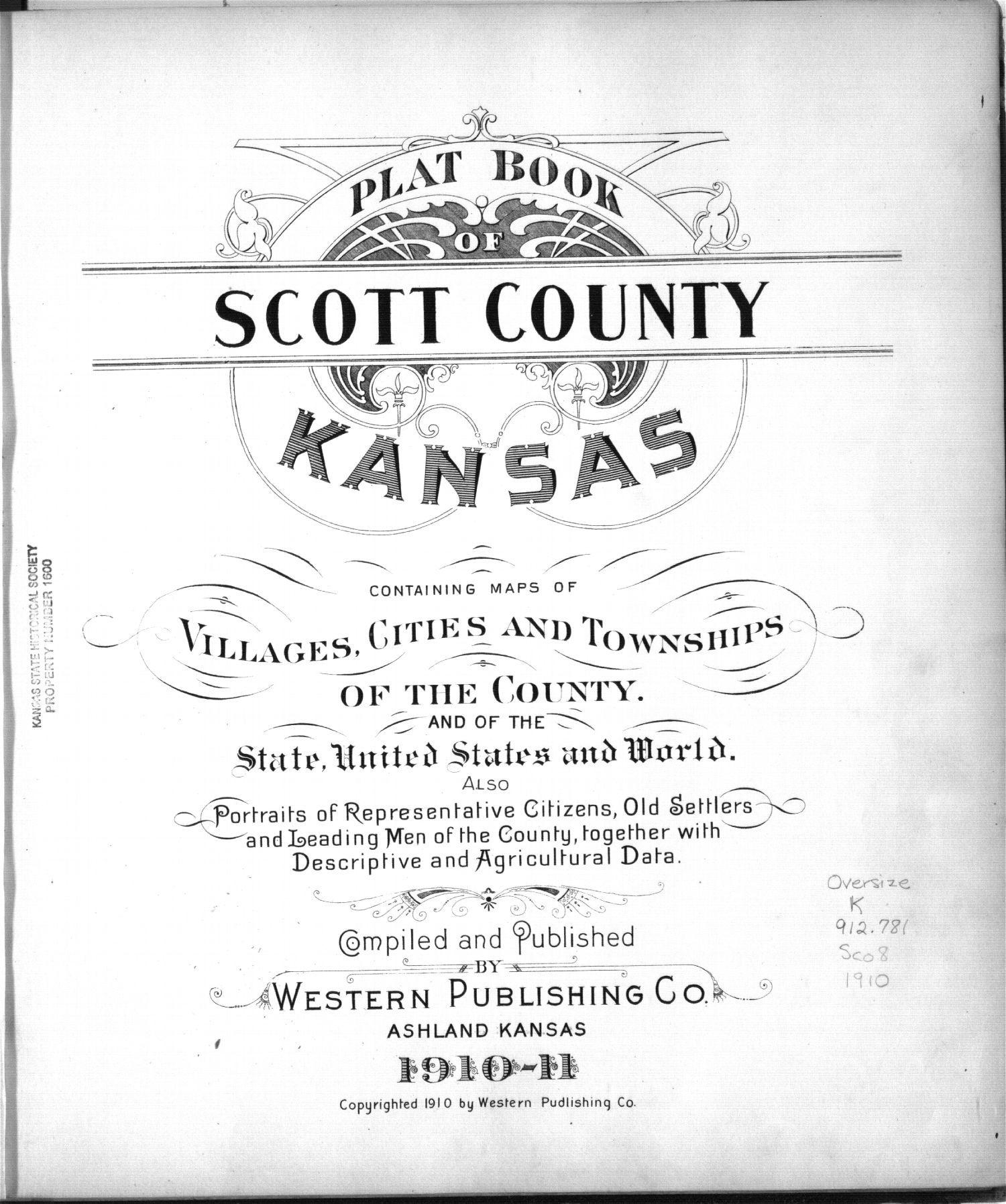 Plat book of Scott County, Kansas - 1